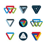 Abstract unusual vector icons set, creative symbols collection, Royalty Free Stock Images
