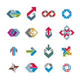 Abstract unusual vector icons set, creative symbols collection, Royalty Free Stock Photo