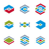 Abstract unusual vector icons set, creative symbols collection, Royalty Free Stock Photos