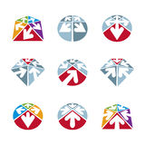 Abstract unusual vector icons set, creative symbols collection,. Stylish templates Stock Photo