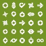 Abstract unusual vector symbols set, creative stylish icon templ Stock Photo