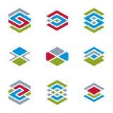 Abstract unusual vector symbols set, creative stylish icon templ Stock Photos
