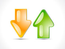 Abstract upload download icon Stock Image