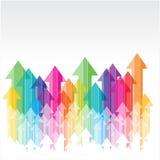 Abstract upward arrow. Abstract upward colorful transparent arrow Vector Illustration