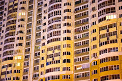 Block of flats night building Royalty Free Stock Photo