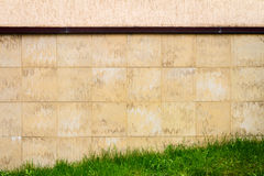 Abstract urban brown tile wall Stock Photography