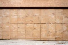 Abstract urban brown tile wall Stock Image