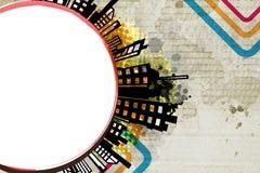 Abstract urban circle design Stock Photo
