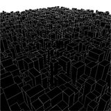 Abstract Urban City Boxes From Cube Vector 01. Abstract Urban City Boxes From Cube Vector Royalty Free Stock Photos