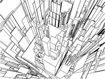 Abstract Urban City Building Vector 109 Royalty Free Stock Photography