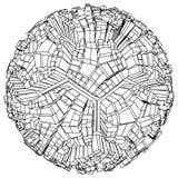 Abstract Urban City Football Soccer Globe Vector Royalty Free Stock Image