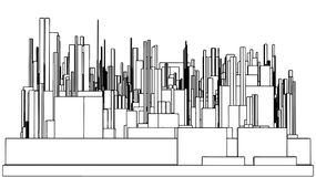 Abstract Urban City Of Skyscrapers Vector 99 Royalty Free Stock Photo