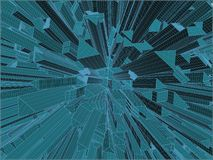 Abstract Urban City Of Skyscrapers Vector Royalty Free Stock Image