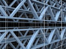 Abstract Urban Constructions 01. Abstract Urban Constructions Structure Illustration Royalty Free Stock Photography