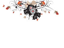 Abstract urban floral autumn illustration Royalty Free Stock Image
