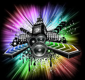 Abstract Urban light Disco Flyers Royalty Free Stock Image