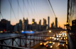 Free Abstract Urban Night Light Bokeh Defocused Brooklyn Bridge At Twilight In New York Citynight Royalty Free Stock Photos - 151501328