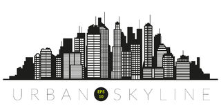 Abstract urban skyline silhouette vector Royalty Free Stock Photography