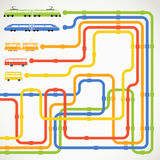 Abstract urban transport scheme Stock Image