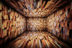 Abstract Urban Wooden Interior Room Background Stock Photography
