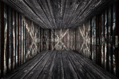 Abstract Urban Wooden Interior Room Background Royalty Free Stock Image