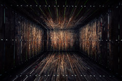 Abstract Urban Wooden Interior Room Background Royalty Free Stock Images