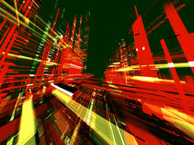 Abstract urbanism background. Abstract urbanism colour luminous background Royalty Free Stock Photography
