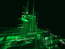 Abstract urbanism background. Abstract urbanism green luminous background Royalty Free Stock Photos