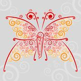 Abstract �url techno-butterfly Royalty Free Stock Photo