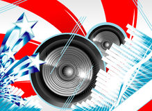 Abstract Us flag for music background Royalty Free Stock Photography