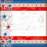 Abstract US-Flag Stars Stripes Vintage. Abstract US-Flag on the vintage background Stock Photos