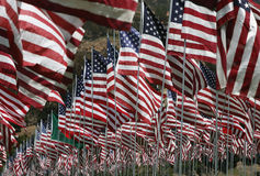 Abstract - US Flags. Multiple US and other flags on display at 9/11 memorial Royalty Free Stock Photos