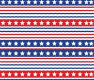 Abstract USA American Patriotic Stars Stripe Pattern Texture Background. Lllustration Royalty Free Stock Images