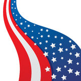 Abstract USA flag background Stock Images