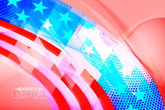 Abstract usa flag shape scene. Vector wallpaper colors background Stock Photos