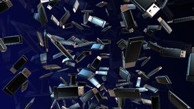 Abstract Usb flash drives in black stock footage