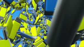 Abstract Usb flash drives in blue and yellow stock video footage