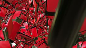 Abstract Usb flash drives in red stock video footage