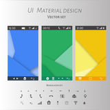 Abstract user interface templates of overlaps paper Royalty Free Stock Photos