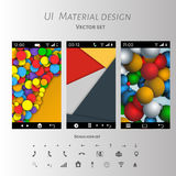 Abstract user interface templates of overlaps paper Royalty Free Stock Photo
