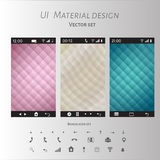 Abstract user interface templates of overlaps paper Stock Photography
