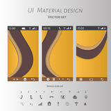 Abstract user interface templates of overlaps paper Stock Images