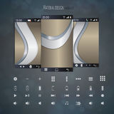 Abstract user interface templates of overlaps paper royalty free illustration