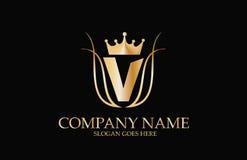Abstract V  Elegant Logo Design Royalty Free Stock Image