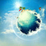 Abstract vacation and travel backgrounds Stock Photography