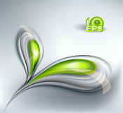 Abstract vactor background. Abstract background with green leaves Stock Photography