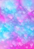 Abstract valentijnskaart bokeh ontwerp als achtergrond Stock Afbeelding