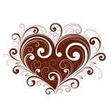 Abstract valentijnskaarthart Stock Afbeelding