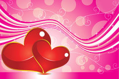 Abstract valentine backgrond. Vector illustration Stock Image
