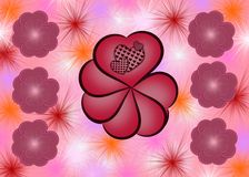 Abstract Valentine background Royalty Free Stock Image
